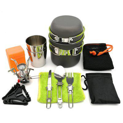 DS101 Outdoor Camping Ultra Light Aluminium Pot Set