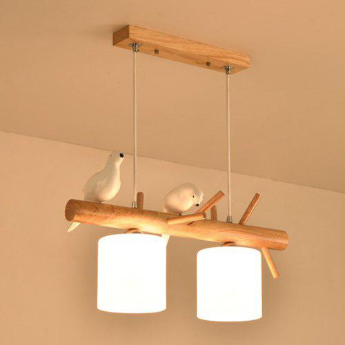 The Nordic Simple Dining-room Birds Droplight American Country Study Corridor Warm Bedroom Chandeliers Creative Personality Pendant Lights