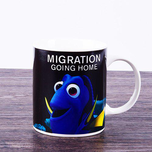 Marine Fish Color Changing Household Ceramic Cup