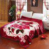 Soft Comfortable Red Double Thick Blanket - CHERRY RED