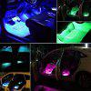 Car Interior Lights Strips RGB LED Neon Lamps Bars Sound-activated Music Control with Wireless Remote - BLACK