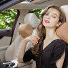 A01 Universal Breathable Car Seat Memory Foam Pillow Travel Neck Rest Pad Head Support Cushion - ORANGE GOLD