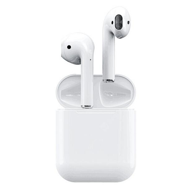 i12 Sports Wireless Bluetooth 5.0 Stereo Earphones with Charging Dock - WHITE