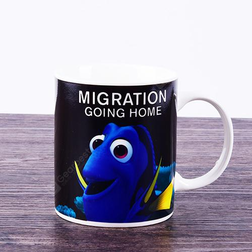Marine Fish Color Changing Household Ceramic Cup - OCEAN BLUE 4