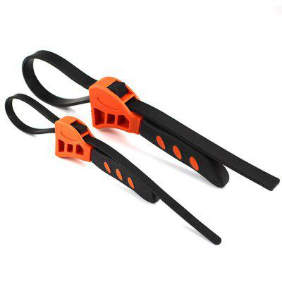Outfit Multi-functional Rubber Belt Wrench 2pcs