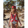 Lace Sexy Ladies One-piece Swimsuit - MULTI-D