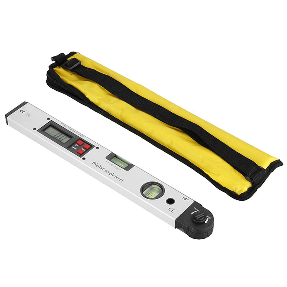 Gocomma 0 - 225 Degree Protractor Spirit Level Digital Angle Meter - White