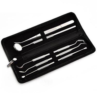 Dentist Tools 5pcs / Set with Leather Case