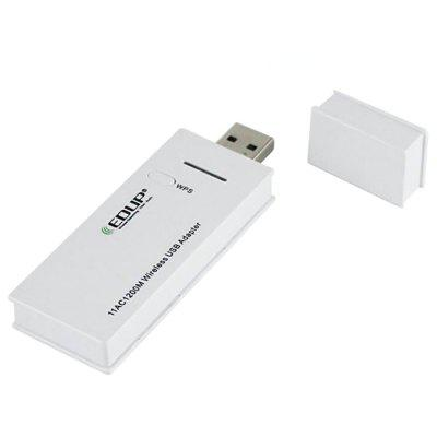 EDUP EP - AC1602 2.4 + 5.8GHz Wireless USB Adapter 1200Mbps WiFi Receiver Network Card Support Windows Mac for PC