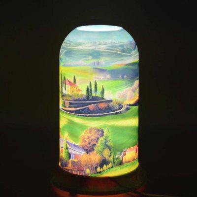 Qinyuan LED Natural Art Pattern Table Lamp