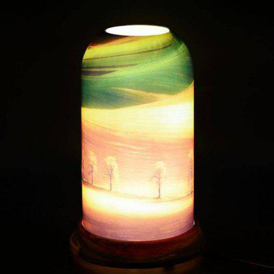 Qinyuan LED Customizable Natural Art Pattern Table Lamp