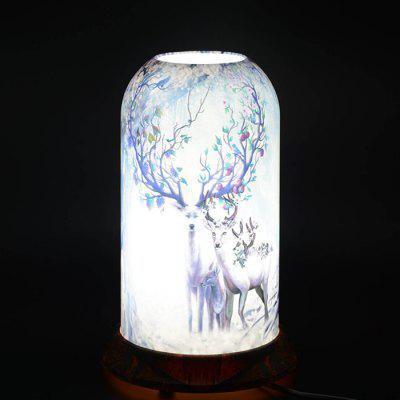 Qinyuan LED Decoration Painting Art Table Lamp
