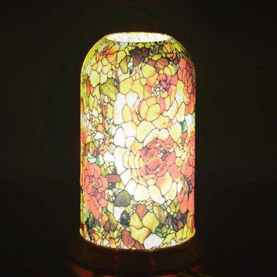 Qinyuan LED Table Glass Pattern Art Lamp