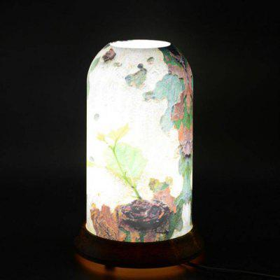 qinyuan LED Decoration Customized Bamboo Wood Pattern Art Table Lamp