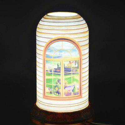 qinyuan LED Home Customized Window Art Table Lamp