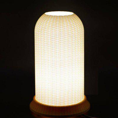 Qinyuan LED Bamboo Wood Pattern Art Table Lamp
