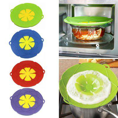 Spill-proof Dust-proof Pot Cover Silicone Lid 26cm