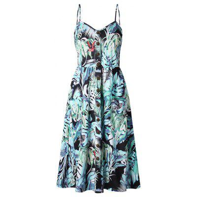 Women Print Slip Dress for Holiday