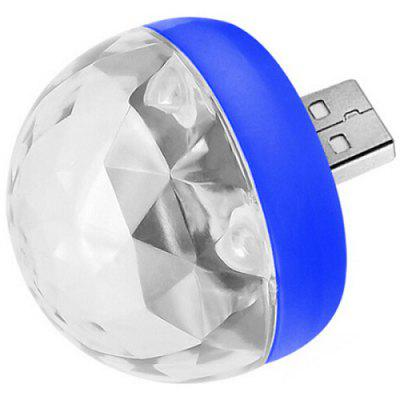 Mini USB Rotating LED Stage Light Voice Control Small Magic Ball Lamp
