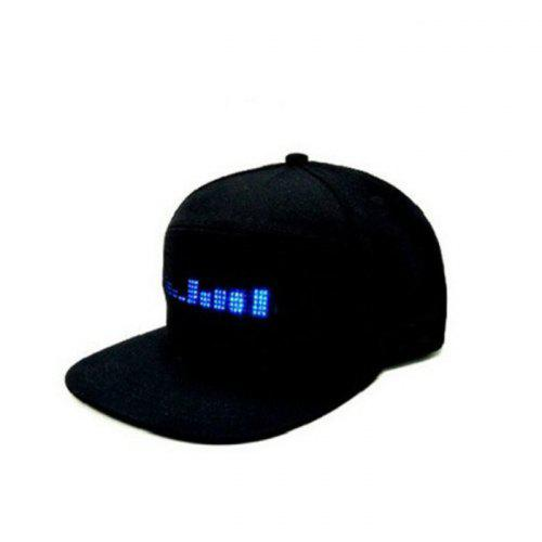 Gocomma Multi-language Display Cool Hat Cap with LED Light Screen