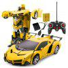 Deformation Charging Remote Control Car Child's Toy - YELLOW