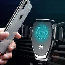 Gearbest Universal Wireless Qi Fast Charging Car Charger Air Vent Phone Holder