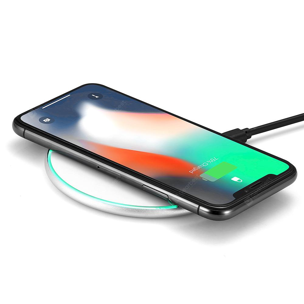 gocomma 10W Disc Wireless Fast Charger - SILVER