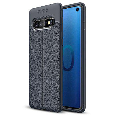 AISLING Litchi Leather Series mobiele telefoonhoes voor Samsung Galaxy S10