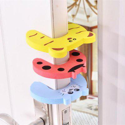 Child Safety Anti-grip Card Cartoon Thickening Door Clamp 5PCS