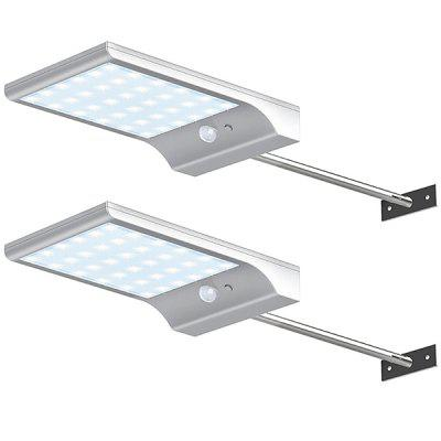 Solar 36 LED White with Stand Garden Slim Wall Light