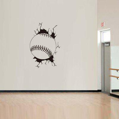JS005 Baseball Sports Pattern 3D Wall Sticker