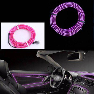 Gocomma Waterproof LED Strip Light Wire Tube Neon Light Inside Atmosphere Light Decoration Car Interior