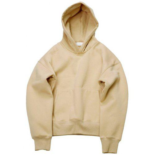 Warm Cotton Sweatshirt with Pocket for Men Mens Retro Style Hungary Silhouette Hooded Fleece