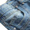 Casual Zipper Fly Ripped Straight Jeans - WINDOWS BLUE
