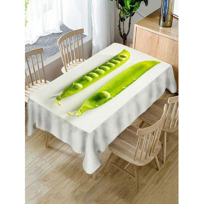 Pea Print Fabric Waterproof Tablecloth