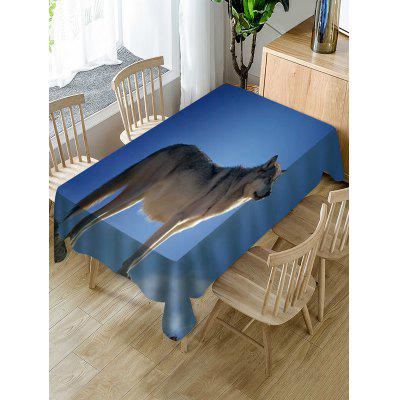 Wolf Print Fabric Waterproof Tablecloth