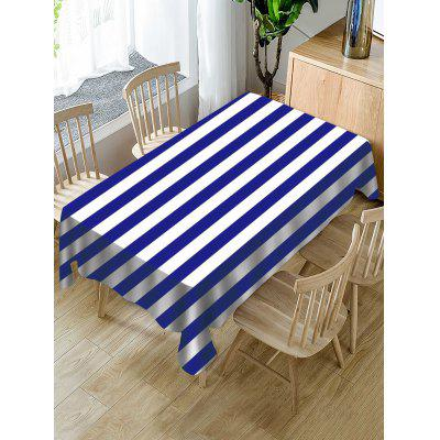 Striped Print Fabric Waterproof Tablecloth