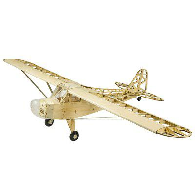 Dancing Wings Hobby S23 J3 1200mm Wingspan Balsa Wood Airplane Models RC Building Toys Woodiness Model Wood Plane