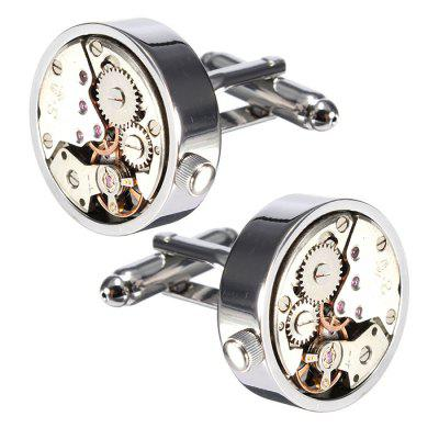 Men's Fashion Mechanical Watch Movement Cufflinks
