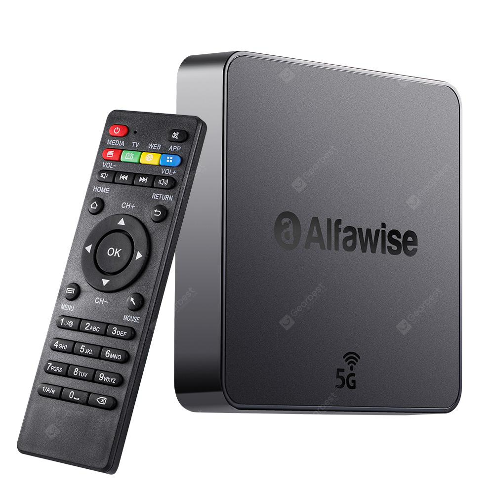 Alfawise A8 Pro 5G Wifi Magic TV Box - BLACK EU PLUG