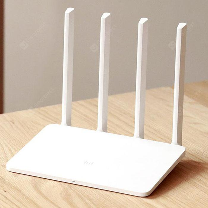 Xiaomi Mi 3A Wireless Router 2.4G + 5G Dual Frequency WiFi High Gain 4 Antenna - White