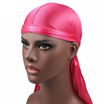 Fashion Solid Color Satin Long Tail Pirate Hat