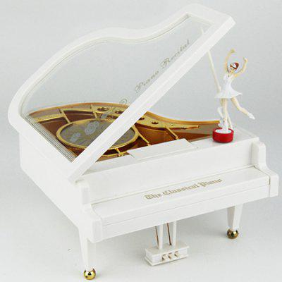 Piano Rotating Ballet Music Box Crafts