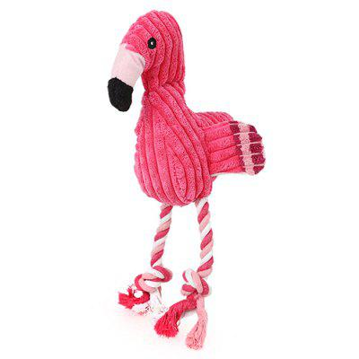 SQ033323 Pulling Velvet Flamingo Shape Toy