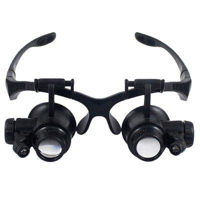 LED Illuminated Head-mounted Magnifier with 5 Detachable Lenses