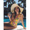 Printed One-piece Ladies Swimsuit - YELLOW