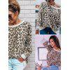 Autumn and Winter Print Leopard Sweater - LEOPARD
