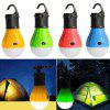 3-LED Portable Outdoor Camping Light Work Lamp - DARK ORANGE
