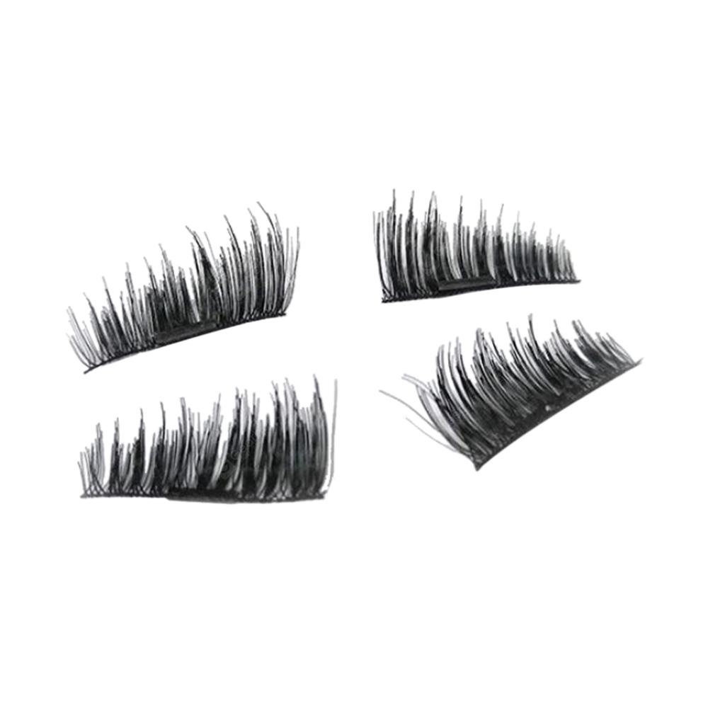 4PCS 3D Free Glue Magnetic False Eyelash | Gearbest