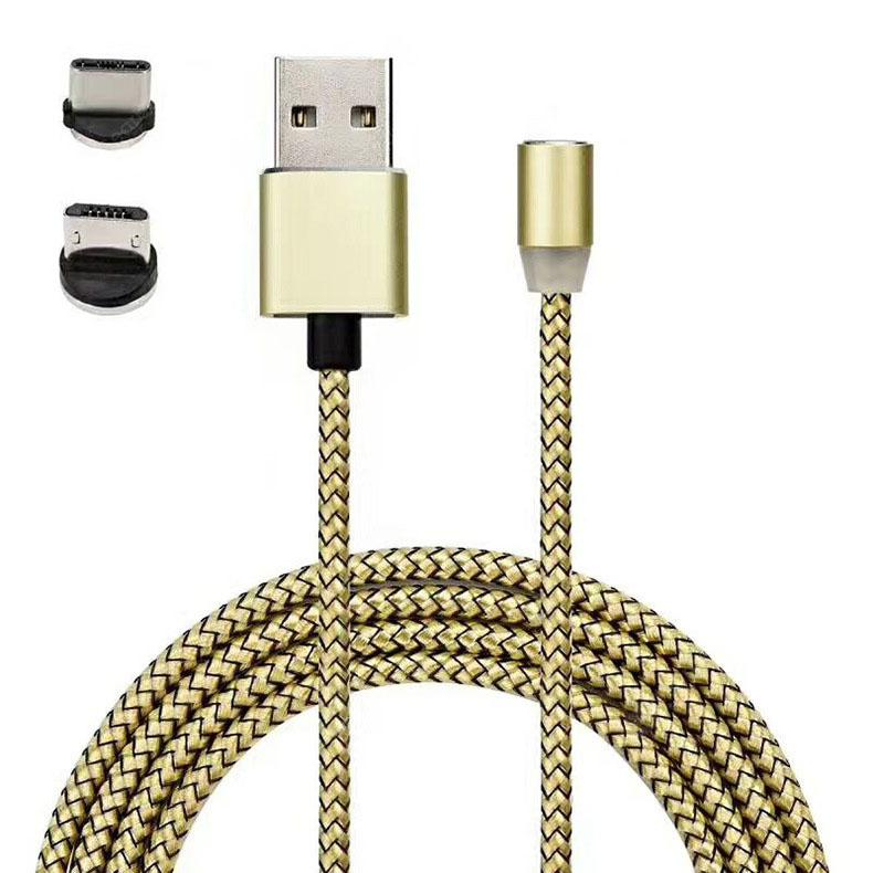 Magnetic 360 Degree Three-in-one Data Cable for Android / Type-C - Multi Line+?Android+Type-c?